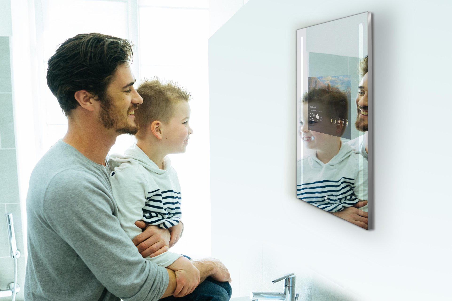 Get weather, news and more from the smart mirror on the wall